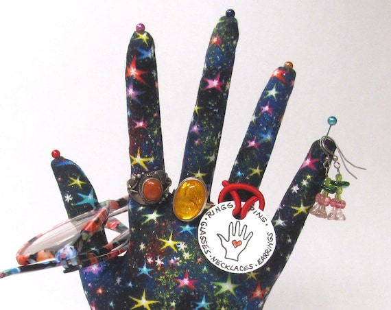 CLASSIC Starry Night HAND-Stand ~ Jewelry Display ~ Ready to Ship!
