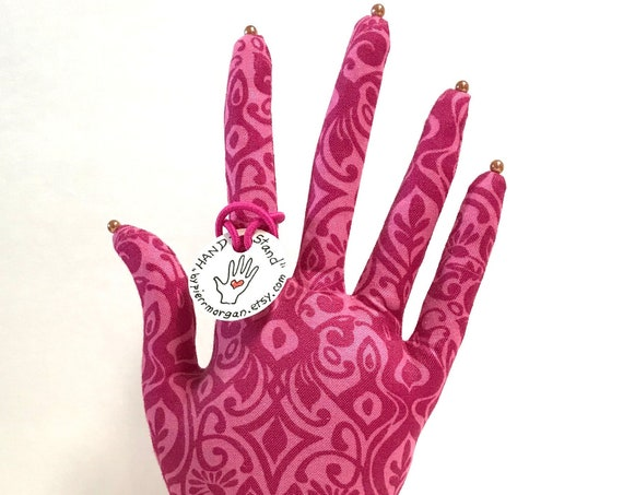 CLASSIC Pink Henna HAND-Stand ~ Jewelry Display ~ Ready to Ship!