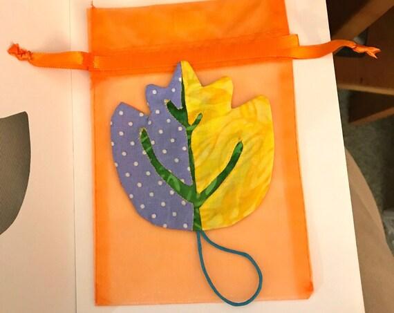 OOAK Leaf Ornament + FREE Gift Bag ~ Ready to Ship!