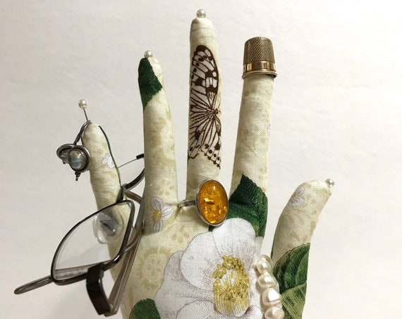 White Camellia CLASSIC HAND-Stand ~ Jewelry Display ~ Ready to Ship!