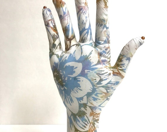 CLASSIC Dahlia Batik HAND-Stand ~ Jewelry Display ~ Ready to Ship!