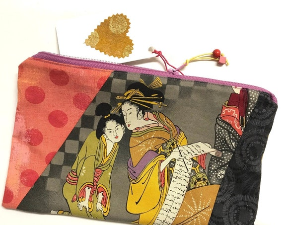 Zipper Pouch ~ Ichimatsu Writer ~ Ready to Ship!