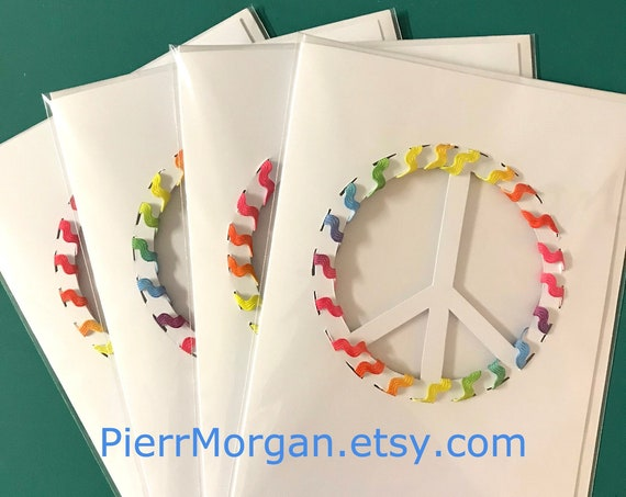 4 Peace Cards - Ready to Ship!