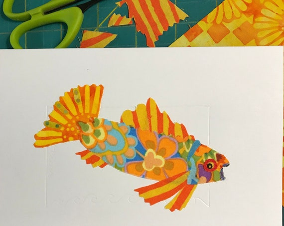 Fish FABcard #9 ~ Ready to Ship!
