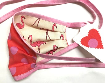 Reversible Face Mask ~ Pink Flamingo ~ Ready to Ship!