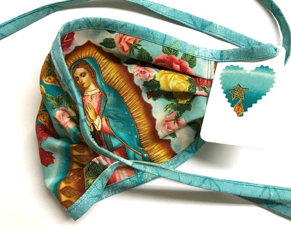 Our Lady Guadalupe SkyRose AquaStraps ~ Face Mask ~ Ready to Ship!
