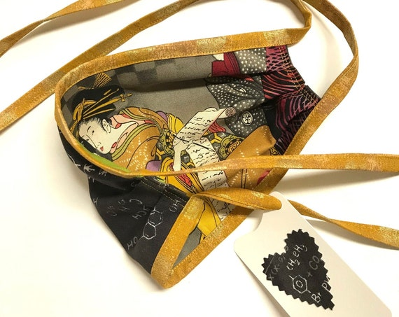 Face Mask ~ Writer Equations-gold straps  ~ Ready to Ship!