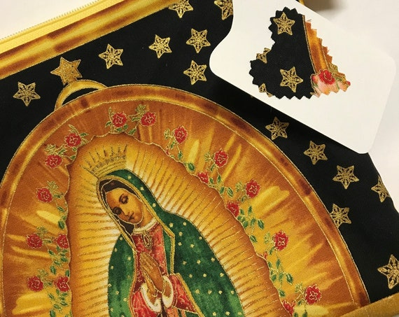 Zipper Pouch ~ Our Lady Guadalupe Star / RedLining ~ Ready to Ship!