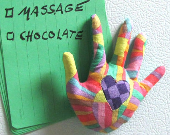 HAND-Maggie ~ Fabric Fridge Magnet ~ Ready to Ship