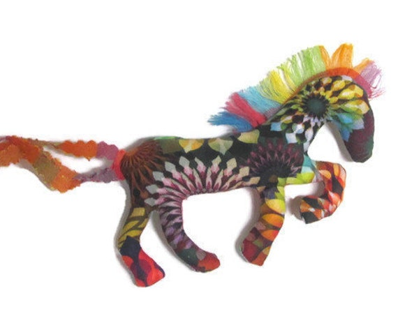 Pretty Little Horse ~ Crystalia Fabric Pin Ornament Mobile ~ Ready to Ship