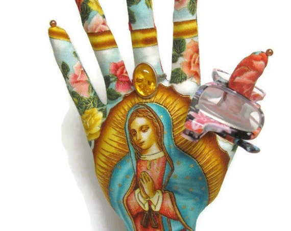 Our Lady Guadalupe CLASSIC HAND-Stand ~ Jewelry Display ~ Ready to Ship!