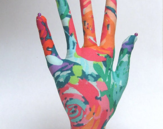 CLASSIC Painted Garden HAND-Stand ~ Jewelry Display ~ Ready to Ship