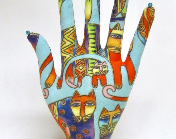 CLASSIC Laurel Burch Fanciful Felines HAND-Stand ~ Ready to Ship!