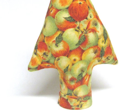 Rare Apples Fabric TREE-Stand ~ Medium Centerpiece Ring Tree ~ Ready to Ship!
