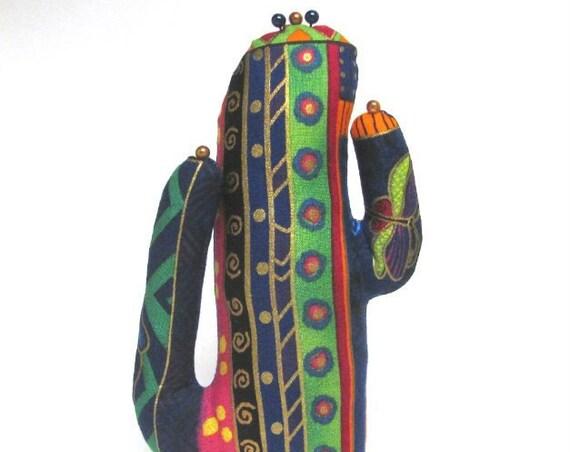 Tall Laurel Burch Fabric Saguaro CACTUS-Stand ~ Jewelry Display ~ Ready to Ship!