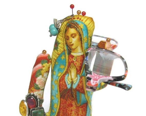 Our Lady Guadalupe Tall CACTUS-Stand ~ Jewelry Holder ~ Ready to Ship