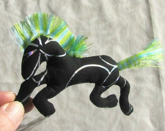 NEW! Pretty Little Horse ~ Black Stallion Pin Ornament Mobile ~ Ready to Ship!