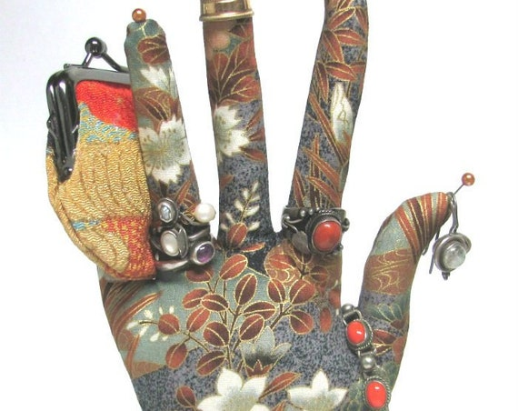 CLASSIC Asian Floral HAND-Stand ~ Jewelry Display ~ Ready to Ship