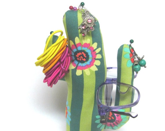Tall Kaffe Fassett CACTUS-Stand ~ Jewelry Holder ~ Ready to Ship