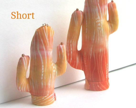 Short Cremesicle CACTUS-Stand ~ Eyeglass Jewelry Holder ~ Ready to Ship