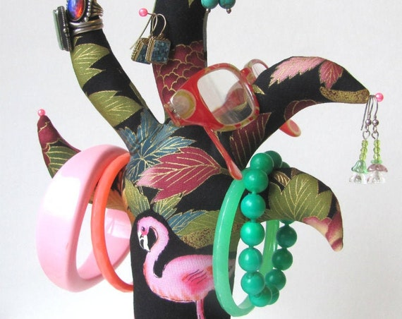 OOAK Flamingo Palm TREE-Stand ~ Eyeglass Jewelry Holder ~ Ready to Ship!