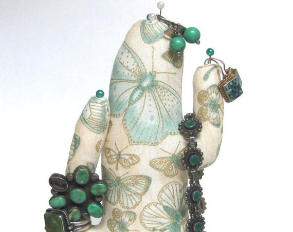Tall Antiqued Butterfly CACTUS-Stand ~ Jewelry Display ~ Ready to Ship