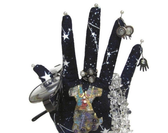 CLASSIC Glow-in-the-Dark Constellations HAND-Stand ~ Jewelry Stand ~ Ready to Ship!