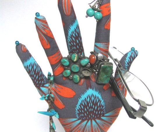 CLASSIC Echinacea HAND-Stand ~ Fabric Jewelry Display ~ Ready to Ship