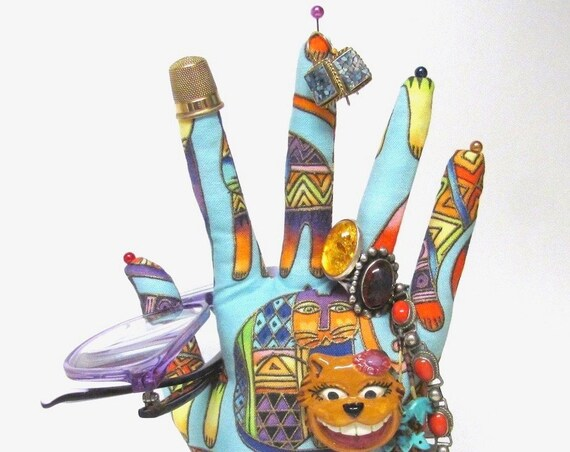 CLASSIC Laurel Burch Cats HAND-Stand ~ Ready to Ship!