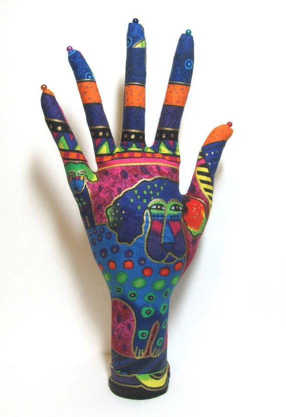 CLASSIC Laurel Burch Signature Dogs n Doggies HAND-Stand ~ Jewelry Display ~ Ready to Ship