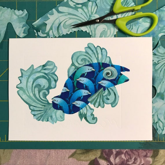 Fish FABcard #8 ~ Ready to Ship!
