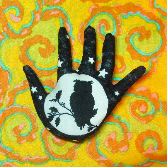 Glow-in-the-Dark HAND-Maggie ~ Refrigerator Magnet ~ Ready to Ship