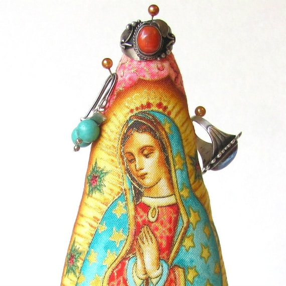 Our Lady of Guadalupe TREE-Stand ~ COLOSSAL Style ~ Ready to Ship