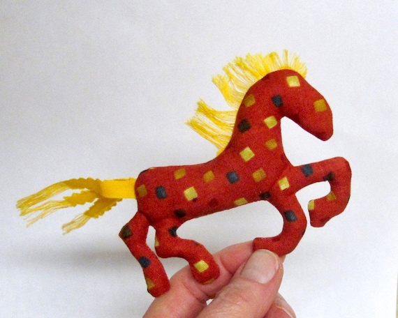 Pretty Little Horse ~ Yellow Mane Pin Ornament Mobile ~ Ready to Ship!