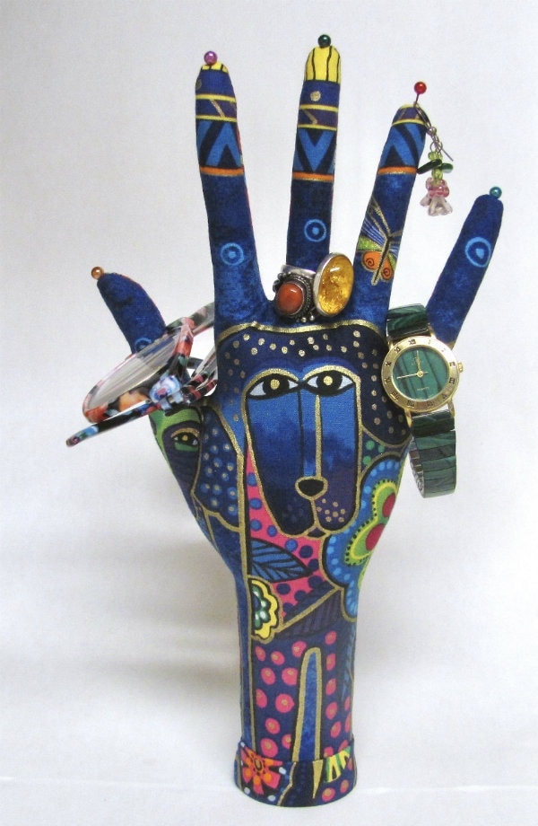 CLASSIC Laurel Burch Blue Dogs HAND-Stand Ready to Ship!