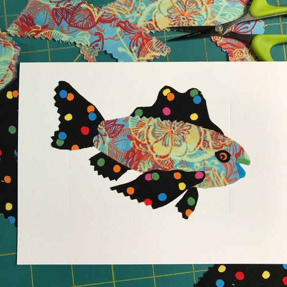 Fish FABcard #4 ~ Ready to Ship!