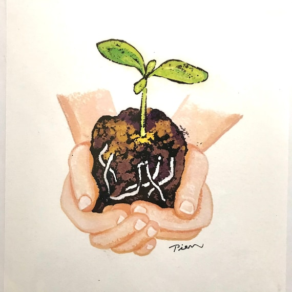 Root Toes Down ~ Digital Print ~ Ready to Ship!
