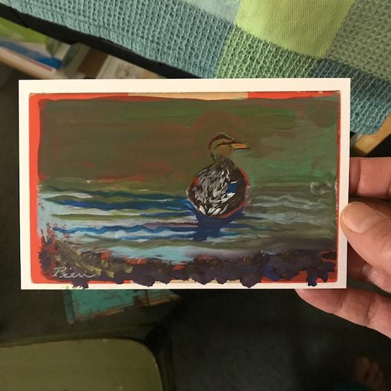 Mallard ~ Acrylic Painting ~ Ready to Ship!