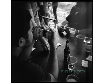 Dominoes - Giclée Print from Holga Photograph, Black-and-White Film