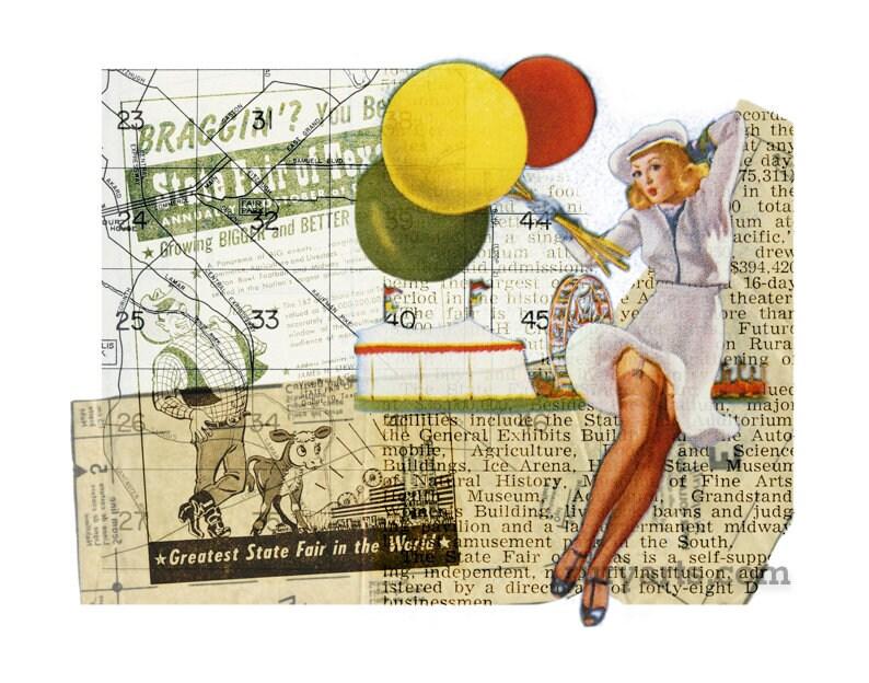 Dallas 1952: Fair Gal  Giclée Print from Digital Collage image 0