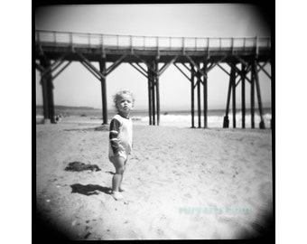 Pacific Coast Highway - Giclée Print from Holga Photograph, Black-and-White Film