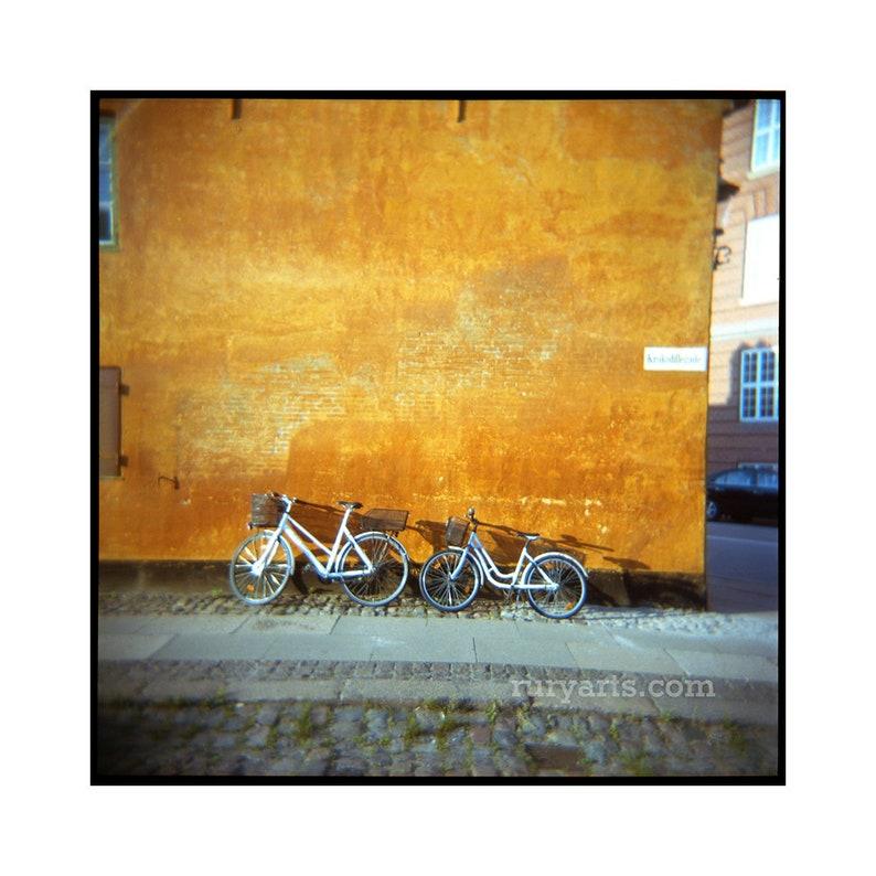 Copenhagen Bikes  Giclée Print from Holga Photograph Color image 0
