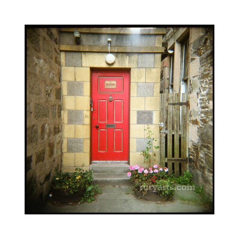 Cairngorms Red Door  Giclée Print from Holga Photograph image 0