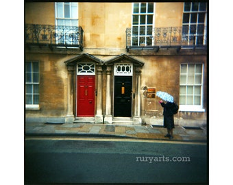 Oxford Doors - Giclée Print from Holga Photograph, Color Film