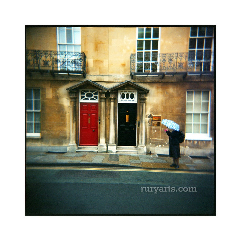 Oxford Doors  Giclée Print from Holga Photograph Color Film image 0