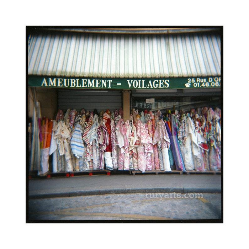 Paris Fabrics  Giclée Print from Holga Photograph Color Film image 0