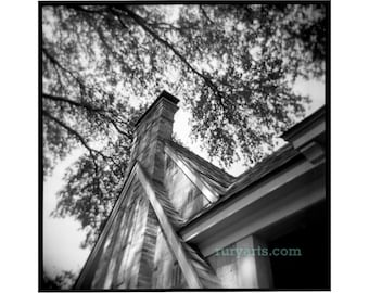 Patrick's House - Giclée Print from Holga Photograph, Black-and-White Film
