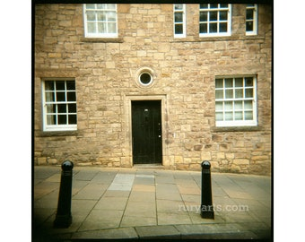 Stirling Black Door - Giclée Print from Holga Photograph, Color Film