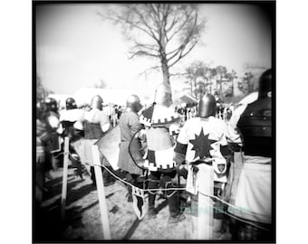 Knights - Giclée Print from Holga Photograph, Black-and-White Film