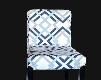 Geometric IKEA HENRIKSDAL Bar Stool Chair Cover